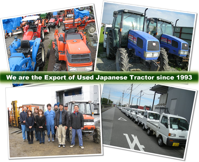 We are the Exoport of Used Japanese Tractor since 1993